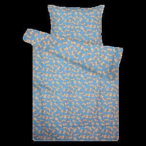 Kék macis flanel ovis ágynemű